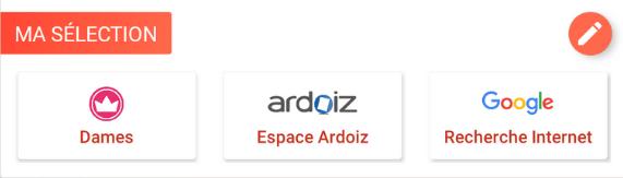 Widget favori de la nouvelle interface de la tablette simplifiée ardoiz